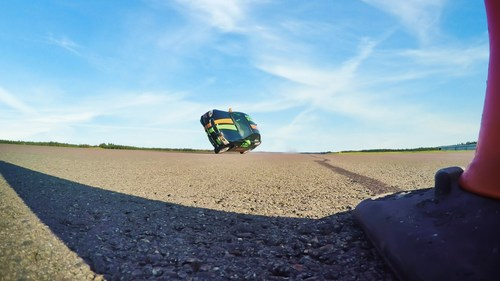 Nokian Tyres - Fastest side wheelie in a car. The world record for the fastest car on two wheels, 186.269 km/h (115.759 mph), was set in Finland at the end of August. This wild world record was set when Nokian Tyres' product development, Vianor's competent pit crew and well-known stunt driver Vesa Kivimäki combined their strengths. More: www.nokiantyres.com/fastestwheelie (PRNewsFoto/Nokian Tyres)