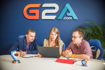 Part of the G2A Team finalizing the front-end verification steps for the G2A Marketplace to tighten security for new sellers. (PRNewsFoto/G2A.com)