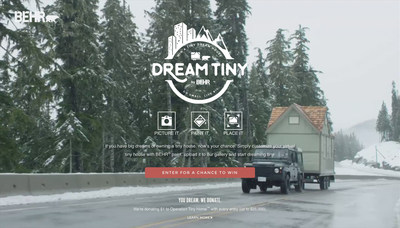 Behr Paint launches Dream Tiny sweepstakes with tiny house giveaway and donations to Operation Tiny Home.