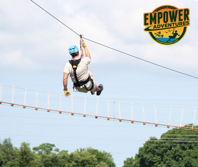 Empower Adventures Tampa Bay Celebrates Grand Opening with a Zip Line Presentation over Wilderness Preserve in Oldsmar, Florida.