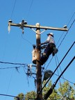 Georgia Power lineman James Laird working to restore power following Hurricane Matthew. Laird, a veteran of the Marine Corps and National Guard, is one of more than 1,600 military veterans employed by the company.
