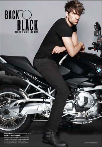 BMW Motorcycles Revs Up Bloomingdale's Fall Fashion Campaign.  (PRNewsFoto/BMW of North America, LLC)