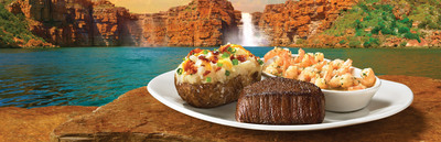 For just $14.99*, Outback's Steak and Unlimited Shrimp menu pairs Outback's award-winning steak with an unlimited lineup of Scampi, Buffalo, or fried Shrimp.  (PRNewsFoto/Outback Steakhouse)