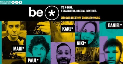 be* is mobile-native platform but is playable on every device. It is based on a social storytelling model to create exchange and conversation most of all with younger generations (PRNewsFoto/JCVG)