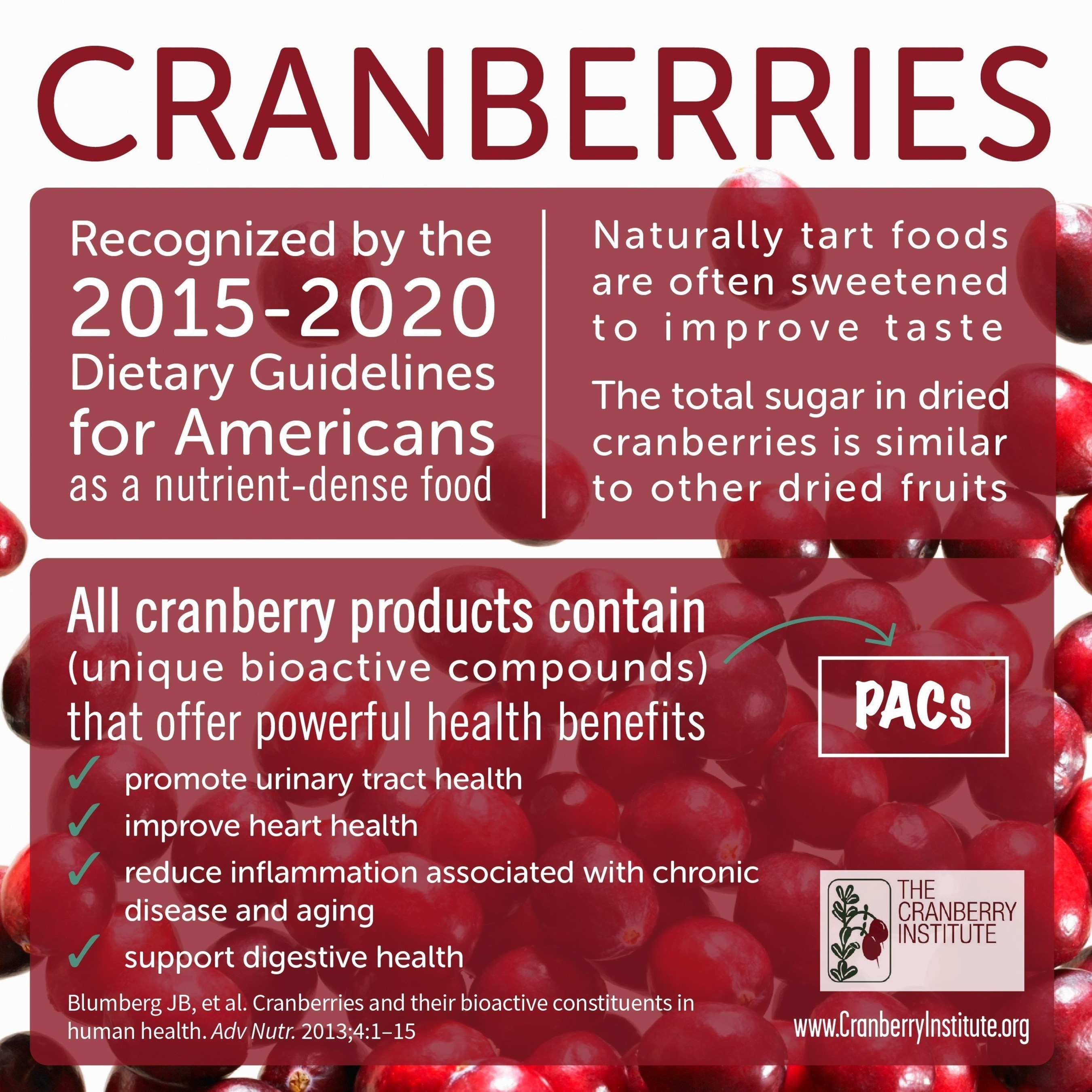 scientists agree that cranberry benefits may extend to the