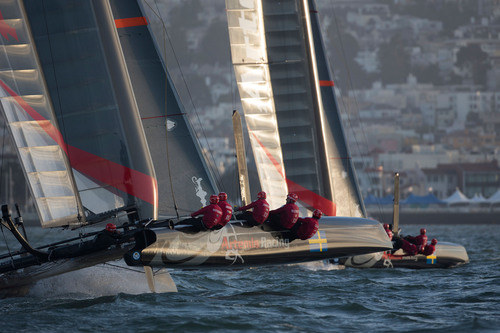 Artemis Racing finished third out of eleven in the America's Cup World Series Regatta held in October in San Francisco, CA.  (PRNewsFoto/Pacific Union International)