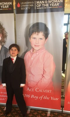 Ace Calvert, leukemia survivor and named Boy of the Year for the Leukemia & Lymphoma Society Orange County / Inland Empire.  Ace raised over $81,000 during his 10 week campaign, setting a new record for the Boy of the Year in Orange County.