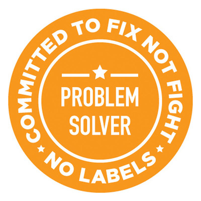 No Labels Problem Solvers Pin.  (PRNewsFoto/No Labels)