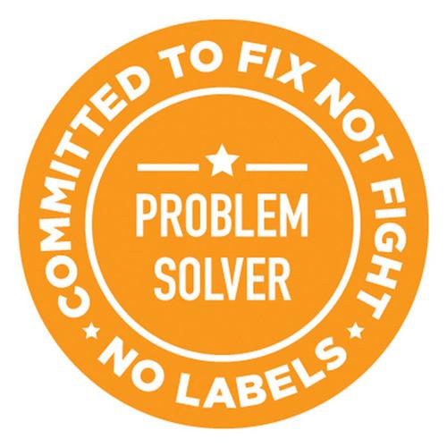 No Labels Problem Solvers Pin. (PRNewsFoto/No Labels) (PRNewsFoto/NO LABELS)