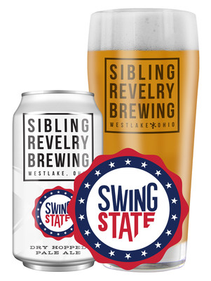 Swing State, the newest brew to the Sibling Revelry family of beers, is a dry-hopped, light bodied American Pale Ale with a light malt body and dry hoppy finish.
