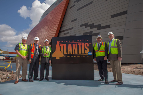 Kennedy Space Center Visitor Complex officials unveil the logo and announce the $100 million home of Space ...