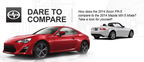 Scion of Naperville is proud to pit the 2014 Scion FR-S vs. the 2014 Mazda MX-5. The Scion brings more of everything to the table.  (PRNewsFoto/Scion of Naperville)