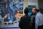 Chris Muench of C-Labs (center) explains IoT and cloud security at Hannover Messe