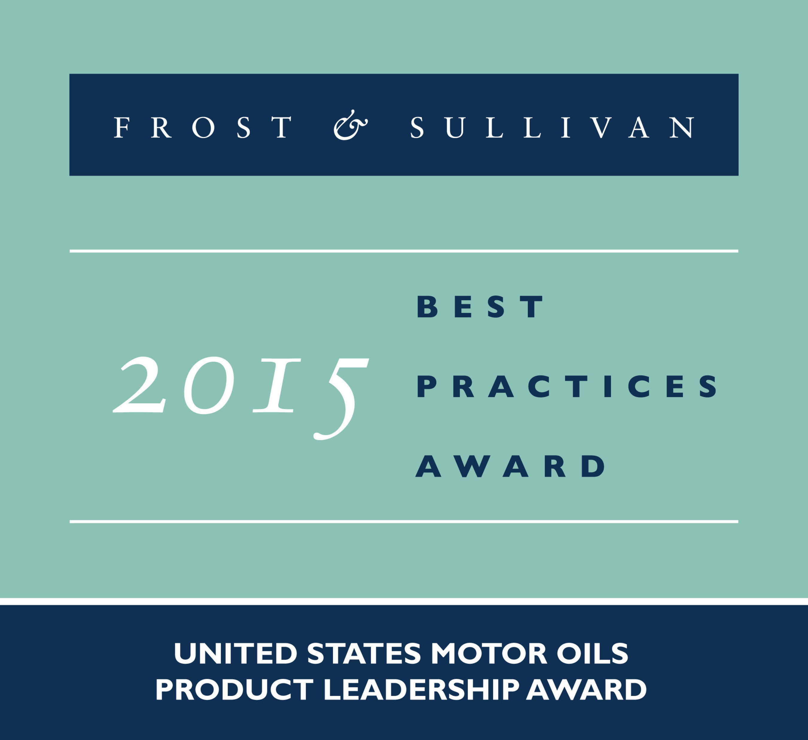 ExxonMobil Fuels and Lubricants Receives 2015 United States Motor Oils Product Leadership Award