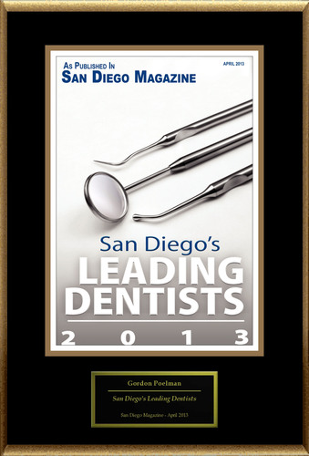 "Gordon Poelman Selected For ""San Diego's Leading Dentists"".  (PRNewsFoto/American Registry)"