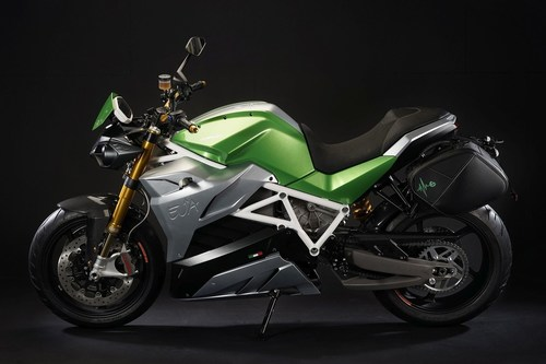 Energica Eva, the electric streetfighter in Electric Green Configuration