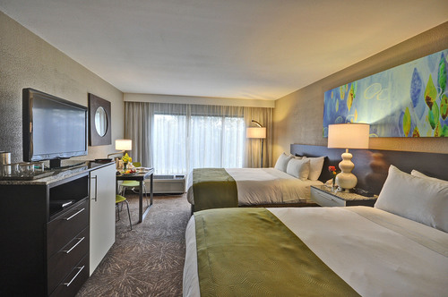 One of the all-new guestrooms at the Radisson Resort Orlando-Celebration, part of the resort's $10-million ...