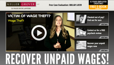 Possible victims of wage theft in San Jose, San Francisco, Los Angeles, and Oakland, CA are encouraged to download our e-Book for wage law help.  (PRNewsFoto/Keller Grover, LLP)