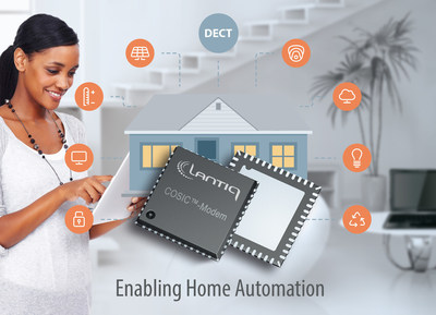With Lantiq support for the DECT ULE HAN FUN protocol, the broadband gateway can serve as the central control  point for smart home services. More information at www.lantiq.com