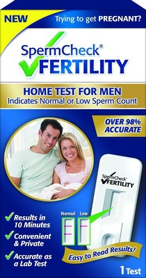 SpermCheck Fertility, Home Test For Men Indicates Normal or Low Sperm Count (PRNewsFoto/SpermCheck)