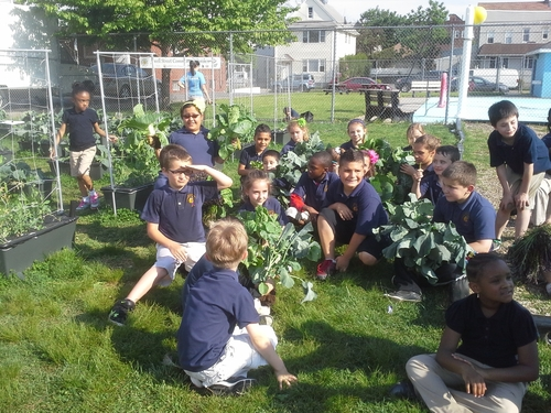 Children at the YMCA in Garfield, NJ learn everything from science and nutrition to teamwork and persistence through gardening projects incorporated into after school and summer programs. Some 50 EarthBox container gardening systems are tended by children aged 2 through 16. (PRNewsFoto/EarthBox)