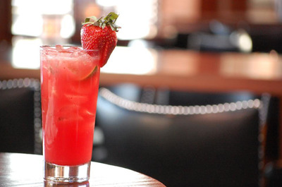 Bar Louie's Strawberry Margarita.  (PRNewsFoto/Bar Louie)