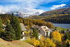 View of St. Moritz Lake in Switzerland.  (PRNewsFoto/Grace Hotels)