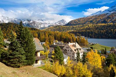 View of St. Moritz Lake in Switzerland.  (PRNewsFoto/Grace Hotels)