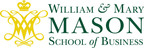 Logo for The Mason School of Business at the College of William and Mary. (PRNewsFoto/The Mason School of Business at The College of William and Mary)