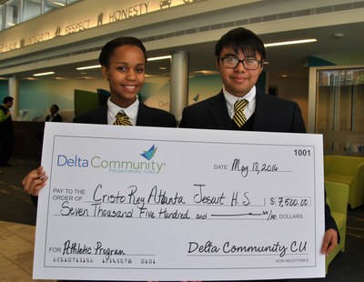 Tanya Mbugua and Pedro Avila are sophomores at Cristo Rey Atlanta Jesuit High School, one of many organizations benefitting from Delta Community's charitable giving initiatives.