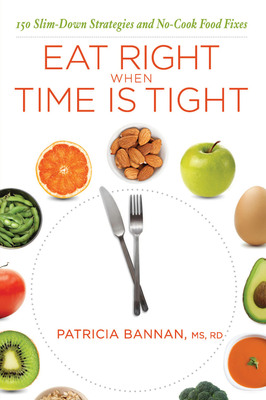 Based on the latest research on health and nutrition, dietitian Patricia Bannan's new book, EAT RIGHT WHEN TIME IS TIGHT: 150 Slim-Down Strategies and No-Cook Food Fixes (NorLightsPress, 2010) empowers readers to make smart choices, even when they're tired, stressed and overwhelmed. As a result they'll have more energy, a happier mood, and lose weight – without suffering. Order a copy today at Amazon, Barnes & Noble, patriciabannan.com or wherever books are sold.  (PRNewsFoto/Patricia Bannan, MS, RD)