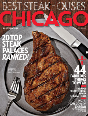 Chicago magazine's November Issue: Best Steakhouses. (PRNewsFoto/Chicago magazine) (PRNewsFoto/CHICAGO MAGAZINE)