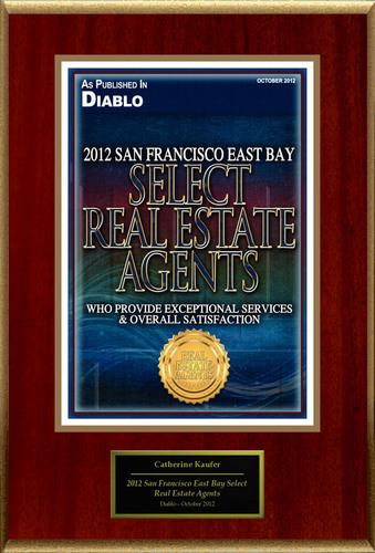Catherine Kaufer Selected For '2012 San Francisco East Bay Select Real Estate Agents'