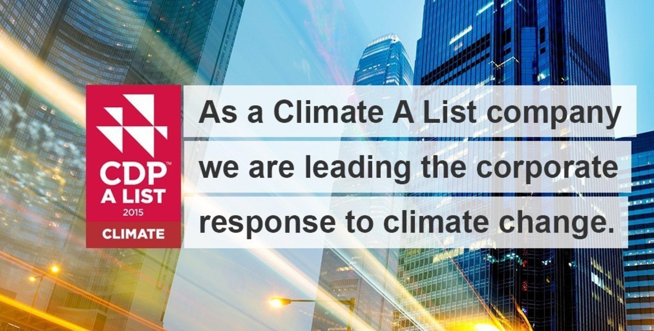 EMC Recognized as a Global Leader For Climate Change Action