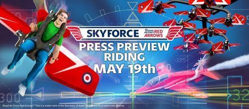 Red Arrows Sky Force Press Call (PRNewsFoto/Blackpool Pleasure Beach)