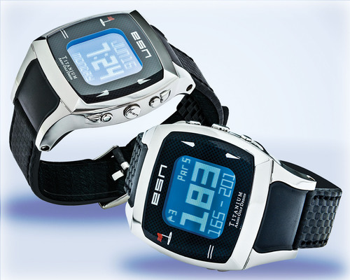 Expresso Satellite Navigation Titanium GPS Golf Watches.  (PRNewsFoto/Expresso Satellite Navigation, Inc.)