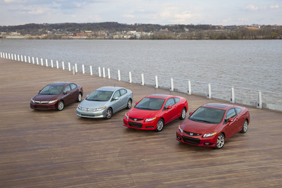The entire 2012 Honda Civic lineup makes its highly anticipated world debut today at the 2011 New York International Auto Show.  (PRNewsFoto/American Honda Motor Co., Inc.)