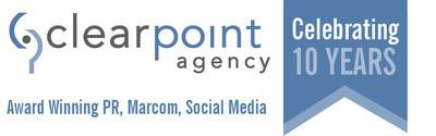 Clearpoint 10 year logo.  (PRNewsFoto/Clearpoint Agency, Inc.)