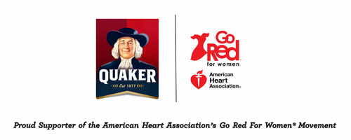 Proud Supporter of the American Heart Association's Go Red For Women(R) Movement. (PRNewsFoto/The Quaker Oats Company) (PRNewsFoto/THE QUAKER OATS COMPANY)