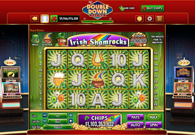 IGT's DoubleDown Casino gets lucky with Irish Shamrocks, a St. Patrick's Day-themed game available on desktop and mobile devices.