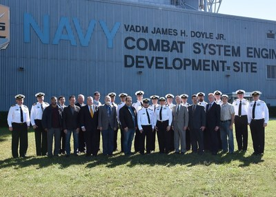 Members of the Royal Australian Navy, Navy civilians and Lockheed Martin employees celebrated the conclusion of their Aegis Combat System training at the Combat Systems Engineering Development Site in Moorestown, N.J. Photo courtesy of Lockheed Martin
