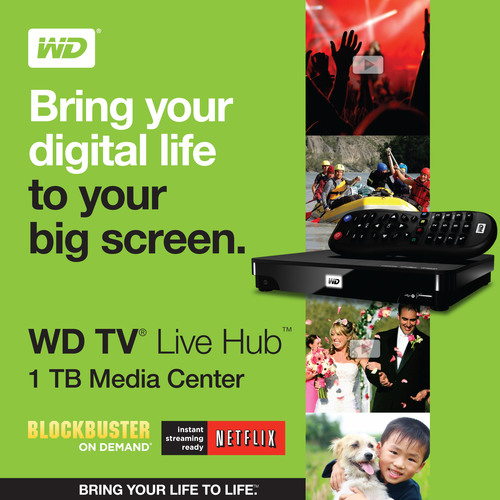 WD's New HD Media Center Streams Popular Movies and the Broadest Range of Personal Content