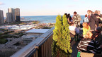 2nd Fridays visitors enjoy panoramic views from the Cliff Dwellers Club in Chicago. (PRNewsFoto/Chicago Cultural Mile Assoc...)