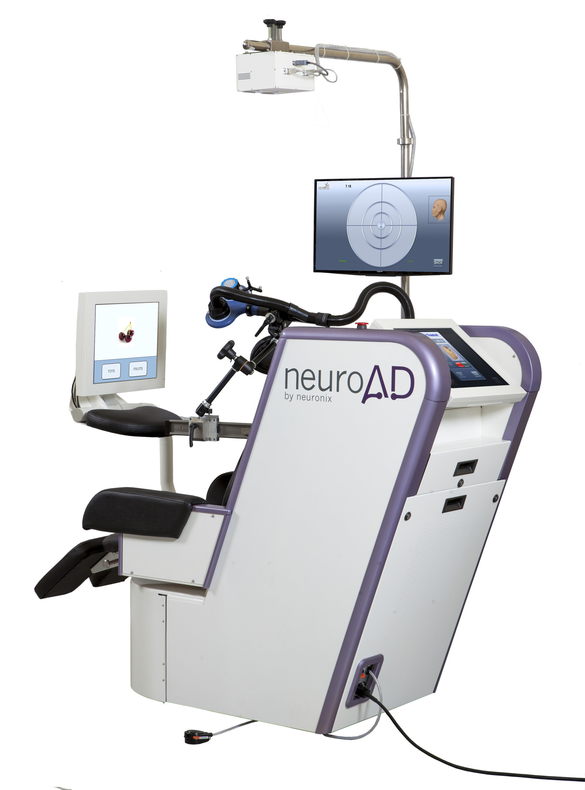 Neuronix announced positive results from its pivotal, double-blind placebo-controlled, multi-center clinical study, for the assessment of safety and efficacy of the neuroAD Therapy System, in the treatment of mild to moderate Alzheimer's disease. Neuronix has filed a U.S. FDA application seeking regulatory clearance to market its neuroAD Therapy System for treatment of Alzheimer's disease. If approved, the neuroAD Therapy System would be the first medical device ever cleared by the FDA for treatment of Alzheimer's. neuroAD is a patent-protected, non-invasive medical device, uniquely combining transcranial magnetic stimulation (TMS) with cognitive training, to concurrently target brain regions affected.