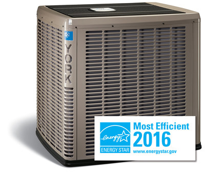 York Affinity residential air conditioners and one York Affinity residential heat pump model have been recognized as ENERGY STAR® Most Efficient 2016, when combined with the York Affinity Residential Communicating Control.
