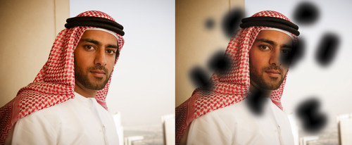 Before and after - the effect of Diabetic Retinopathy on vision (PRNewsFoto/Moorfields Eye Hospital Dubai)