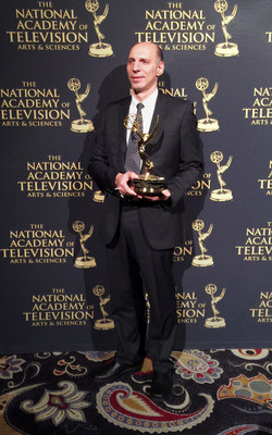 Dror Jerushalmi, Valens' CEO, with the company's 67th Annual technology & Engineering Emmy(R) Award