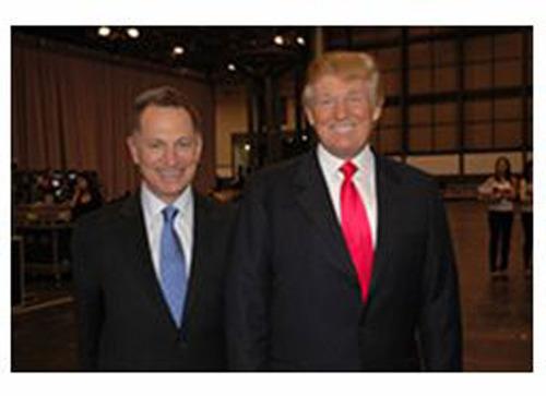 Bill Zanker and Donald Trump.  (PRNewsFoto/FundAnything)