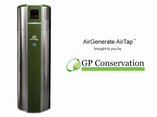 AirGenerate AirTap ATI66 Hybrid Heat Pump Water Heater.  (PRNewsFoto/GP Conservation)