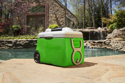 New innovative product: Cooler that doubles as a personal air conditioner.